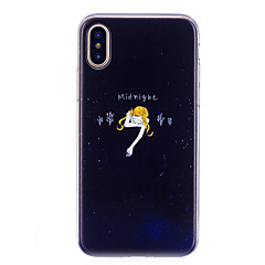 abordables Fundas para iPhone 6s Plus-Funda Para Apple iPhone X iPhone 8 IMD Diseños Cubierta Trasera Chica Sexy Suave TPU para iPhone X iPhone 8 Plus iPhone 8 iPhone 7 Plus