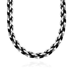 Недорогие Ожерелья-Муж. Геометрический принт Воротничок - нержавеющий Мода Серебряный Ожерелье Бижутерия 1 Назначение Подарок, Повседневные