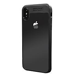 Недорогие Кейсы для iPhone-Кейс для Назначение Apple iPhone X iPhone X Защита от удара Прозрачный Кейс на заднюю панель Сплошной цвет Твердый ПК для iPhone X