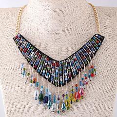 お買い得  ネックレス-女性用 ドロップ ボヘミアンスタイル 欧風 ファッション カラー アクリル 布 合金 カラー 、 パーティー
