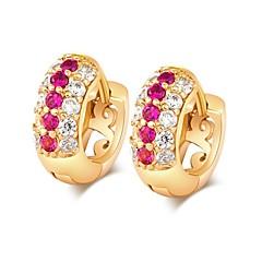 preiswerte Ohrringe-Damen Kreolen - Diamantimitate Klassisch, Modisch Gold Für Alltag Formal
