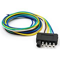 abordables Herramientas y Equipos de Diagnóstico-Conector de extensión del arnés de cable de 5 vías plano del remolque con conector del extremo de la longitud del cable de 36 pulgadas