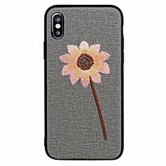 abordables Fundas para iPhone 6s-Funda Para Apple iPhone X iPhone 8 Congelada Diseños Cubierta Trasera Flor Suave Cuero Sintético para iPhone X iPhone 8 Plus iPhone 8