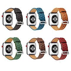 tanie Bransoletki do Apple Watch-Watch Band na Apple Watch Series 3 / 2 / 1 Apple Opaska na nadgarstek Współczesna klamra Skóra naturalna