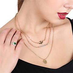 preiswerte Halsketten-Damen Kristall Anhängerketten / Statement Ketten - Krystall Klassisch Gold Modische Halsketten Schmuck Für Alltag, Strasse