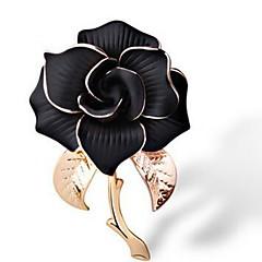 hesapli -Kadın's Broşlar Mücevher Klasik Moda Zarif alaşım Çiçek Mücevher Uyumluluk Günlük Resmi