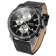お買い得  大特価腕時計-JUBAOLI 男性用 リストウォッチ クォーツ クール 大きめ文字盤 ステンレス バンド ハンズ ブラック / ブルー / レッド - ブラック ダークブルー レッド