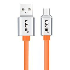 abordables Cables y Adaptadores-LUJIE Micro USB 2.0 Cable, Micro USB 2.0 to USB 2.0 Cable Macho - Macho <1m/3ft 480 Mbps