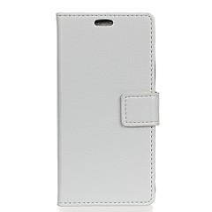 voordelige Hoesjes / covers voor Xiaomi-hoesje Voor Xiaomi Mi 5s Plus Mi 5s Portemonnee Kaarthouder met venster Flip Volledige behuizing Effen Kleur Hard PU-leer voor Redmi Note