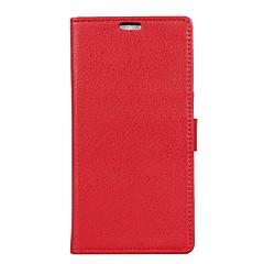 Недорогие Чехлы и кейсы для Sony-Кейс для Назначение Sony Xperia XZ Premium Xperia XZ1 Кошелек Бумажник для карт Флип Чехол Сплошной цвет Твердый Искусственная кожа для