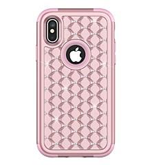 abordables Fundas para iPhone-Funda Para Apple iPhone X iPhone 8 Plus Antigolpes Diamantes Sintéticos Cuerpo Entero Armadura Dura TPU para iPhone X iPhone 8 Plus