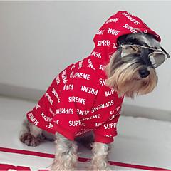 お買い得  犬用ウェア&アクセサリー-犬 パーカー / スウェットシャツ 犬用ウェア 文字&番号 レッド コットン コスチューム ペット用 カジュアル/普段着 / 保温
