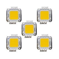 20w cob 1600lm 3000-3200k / 6000-6200k ζεστό λευκό / λευκό φως led τσιπ dc30-36v 5pcs