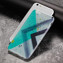 Недорогие Кейсы для iPhone 4s / 4-Кейс для Назначение Apple iPhone 7 Plus iPhone 7 Ультратонкий С узором Кейс на заднюю панель Геометрический рисунок Мягкий ТПУ для iPhone