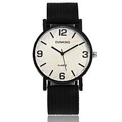preiswerte Herrenuhren-Herrn Armbanduhren für den Alltag / Armbanduhr Chinesisch Armbanduhren für den Alltag Nylon Band Freizeit / Minimalistisch Schwarz / Blau / Rot