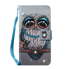 halpa Galaxy S6 kotelot / kuoret-Etui Käyttötarkoitus Samsung Galaxy S7 edge S7 Korttikotelo Lomapkko Paljetti Tuella Kuvio Suojakuori Pöllö Kova PU-nahka varten S7 edge