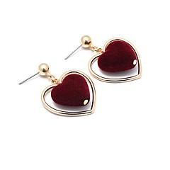 preiswerte Ohrringe-Damen Tropfen-Ohrringe - Herz Süß Schwarz / Rot Für Alltag Party Verabredung