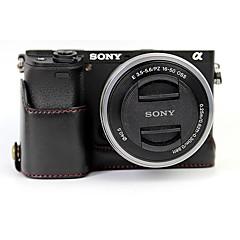 お買い得  ケース、バッグ & ストラップ-dengpin puレザーハーフカメラケースバッグカバーソニーilce-6300 a6300 a6000(色の組み合わせ)