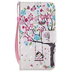 Недорогие Кейсы для iPhone 5-Кейс для Назначение Apple iPhone X iPhone 8 Бумажник для карт Кошелек со стендом Чехол дерево Твердый Кожа PU для iPhone X iPhone 8 Pluss