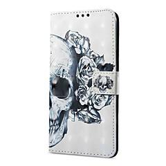 お買い得  その他のケース-ケース 用途 OPPO R11 A57 カードホルダー ウォレット スタンド付き フリップ 磁石バックル パターン フルボディーケース スカル ハード PUレザー のために Oppo R11 OPPO R9s OPPO A59 OPPO A57