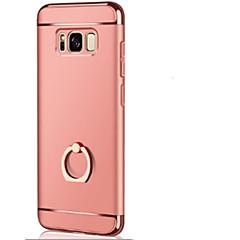olcso Galaxy S6 tokok-Case Kompatibilitás Samsung S8 Plus S8 Tartó gyűrű Ultra-vékeny Origami Fekete tok Tömör szín Kemény mert S8 Plus S8 S7 edge S7 S6 edge