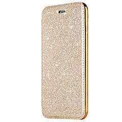 Недорогие Кейсы для iPhone 7-Кейс для Назначение Apple iPhone X iPhone 8 Бумажник для карт Покрытие Флип Чехол Сплошной цвет Сияние и блеск Твердый Кожа PU для iPhone