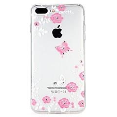 Недорогие Кейсы для iPhone 6-Кейс для Назначение Apple iPhone 6 iPhone 7 Стразы Рельефный Кейс на заднюю панель Цветы Мультипликация Мягкий ТПУ для iPhone 8 Pluss