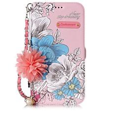 Недорогие Кейсы для iPhone 6 Plus-Кейс для Назначение Apple iPhone X iPhone 8 Бумажник для карт со стендом Флип С узором Своими руками Чехол Слова / выражения Цветы Твердый