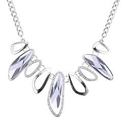 お買い得  ネックレス-女性用 幾何学形 欧風 ファッション ステートメントネックレス ラインストーン ガラス 合金 ステートメントネックレス 、 パーティー
