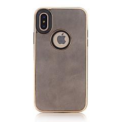 abordables Fundas para iPhone-Funda Para Apple iPhone X iPhone 8 Plus En Relieve Cubierta Trasera Color sólido Suave Cuero Sintético para iPhone X iPhone 8 Plus iPhone