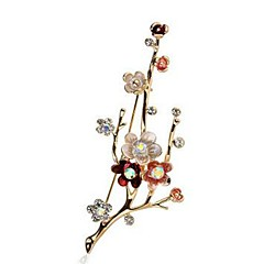 cheap Women's Jewelry-Women's Synthetic Diamond Brooches - Imitation Diamond Flower Classic, Fashion Brooch Gold For Daily / Formal