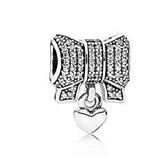 cheap Beads & Jewelry Making-DIY Jewelry 1 pcs Beads Imitation Diamond Alloy Silver Bowknot Bead 0.5 cm DIY Necklace Bracelet