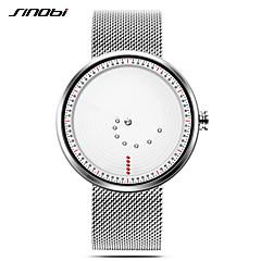 お買い得  メンズ腕時計-SINOBI 男性用 リストウォッチ 日本産 クォーツ 30 m 耐水 耐衝撃性 カジュアルウォッチ ステンレス バンド ハンズ カジュアル ミニマリスト シルバー - ホワイト / シルバー 2年 電池寿命