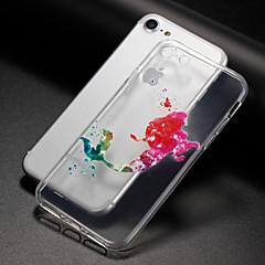 Недорогие Кейсы для iPhone 7 Plus-Кейс для Назначение Apple iPhone X iPhone 8 Plus Прозрачный С узором Задняя крышка Соблазнительная девушка Животное Мультипликация Мягкий