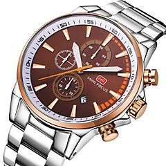 preiswerte Tolle Angebote auf Uhren-Herrn Quartz Armbanduhr Japanisch Armbanduhren für den Alltag Stopuhr Edelstahl Band Freizeit Minimalistisch Cool Silber