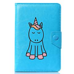 economico Custodie per tablet-Custodia Per Integrale Casi Tablet Unicorno Cartoni animati Resistente pelle sintetica per