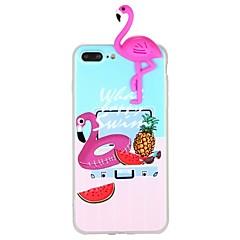 Недорогие Кейсы для iPhone 7-Кейс для Назначение Apple iPhone 7 iPhone 6 С узором Своими руками Задняя крышка Фламинго Животное 3D в мультяшном стиле Мягкий TPU для