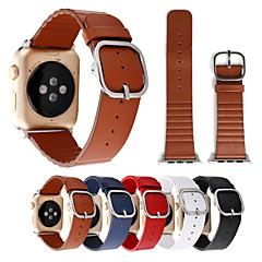 abordables Correas para Apple Watch-Ver Banda para Apple Watch Series 3 / 2 / 1 Apple Correa de Muñeca Hebilla Clásica Cuero Auténtico
