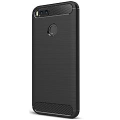Недорогие Чехлы и кейсы для Xiaomi-Кейс для Назначение Xiaomi Mi 5X Матовое Кейс на заднюю панель Полосы / волосы Сплошной цвет Мягкий Углеродное волокно для Xiaomi Mi 5X
