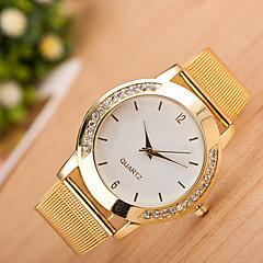 preiswerte Damenuhren-Damen Quartz Armbanduhr Chinesisch Armbanduhren für den Alltag Edelstahl Band Freizeit Modisch Cool Silber