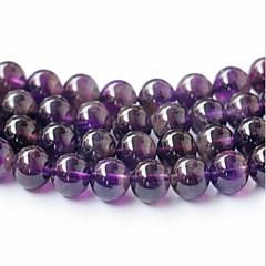 abordables Confección de Perlas y Joyas-Joyería DIY 45 PC Cuentas Cristal Morado Redondo Talón 0.8 cm DIY Gargantillas Pulseras y Brazaletes