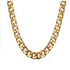 Недорогие Ожерелья-Муж. Ожерелья-цепочки - Нержавеющая сталь Мода Золотой Ожерелье 1 Назначение Подарок, Повседневные