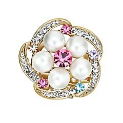 お買い得  ブローチ-女性用 キュービックジルコニア ブローチ  -  人造真珠, ジルコン 携帯式, 多色 ブローチ 虹色 用途 結婚式 / 学校