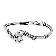 preiswerte Armbänder-Damen Kristall / Kubikzirkonia Geometrisch Armreife - Krystall, Zirkon, versilbert Klassisch, Modisch Armbänder Silber Für Party / Alltag