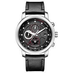 abordables Piel-Hombre Reloj Casual Reloj Deportivo Reloj de Moda Chino Cuarzo Calendario Cronógrafo Resistente al Agua Noctilucente Reloj Casual Piel
