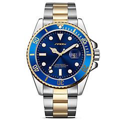 voordelige Herenhorloges-SINOBI Heren Polshorloge Modieus horloge Japans Kwarts Kalender Grote wijzerplaat Stootvast Metaal Roestvrij staal Band Luxe Vintage Cool