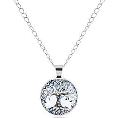 preiswerte Halsketten-Damen Anhängerketten  -  Baum des Lebens Hip-Hop, Mehrfarbig Silber Modische Halsketten 1 Für Party, Maskerade