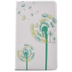 Недорогие Чехлы и кейсы для Galaxy Tab 3 Lite-Кейс для Назначение SSamsung Galaxy Tab 3 Lite Бумажник для карт / со стендом / Флип Чехол одуванчик Твердый Кожа PU для Tab 3 Lite