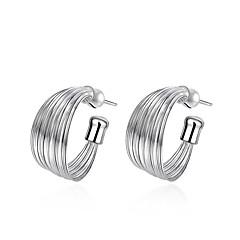preiswerte Ohrringe-Damen Kristall Geometrisch Ohrstecker Huggie Ohrringe - versilbert damas Modisch Schmuck Silber Für Hochzeit Alltag