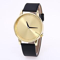 preiswerte Damenuhren-Herrn / Damen Modeuhr / Armbanduhr Chinesisch Armbanduhren für den Alltag Leder Band Modisch Schwarz / Weiß